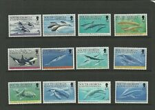 SOUTH GEORGIA-SG231-242-WHALES & DOLPHINS-MNH