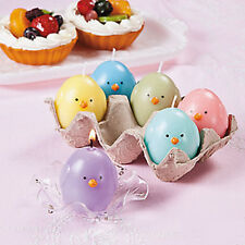 Deluxe 7 PC Chick Candles In Egg Crate NEW IN BOX