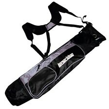 "Longridge 5"" Dual Strap Lightweight Pencil Golf Bag Black / Silver NEW"