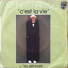 "Johnny Hallyday - C'est la vie - Vinyl 7"" 45T (Single)"