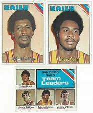 6 1975-76 TOPPS BASKETBALL SAN DIEGO SAILS CARDS (C JONES/GRANT+++)