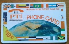 PHONE CARD PT-1 COMMUNICATIONS scheda telefonica 10$ prepaid worldwide savings