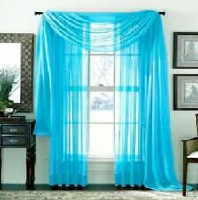 1 pcs  BRIGHT TURQOISE Scarf Voile Window Panel Solid sheer valance curtains