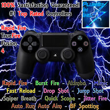 SONY PS4 MODDED RAPID FIRE CONTROLLER, BLACK, AW,  DESTINY, BLACK OPS 3, BF1