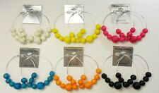 A-20 Wholesale Jewelry lots 6 pairs Colorful Fashion Hoop Earrings