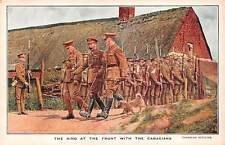 WORLD WAR ONE VISIT OF KING GEORGE V TO CANADIAN SOLDIERS IN FRANCE, c. 1914-18