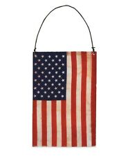 "Bethany Lowe ""Americana Flag Ornament"" made of tin covered w/ paper flag design"