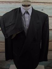 Yves Saint Laurent Gray Herringbone Double Breast Wool Suit Mens 46R 35x32 - P98