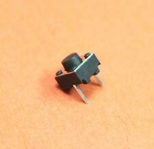 10pc 2 Pin Momentary Tactile Tact Push Button Switch Black 6x6x5mm USA Seller