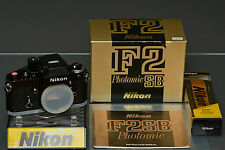 nikon f2sb, f2 dp-3, 98% mint, original box, manual, brand new seals, collector