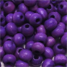 Lot de 100 Perles rondes en bois 6mm Lavande