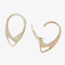 Earrings Findings Rose Gold Plated Lever Back Earring Wires 18x11mm
