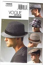 Vogue V8869 S-XL Sewing Pattern 5 Men's Hats & Caps