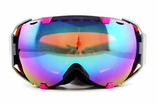 Fashion Purple pink Gradient womens winter ski snowboard goggles Double anti-fog