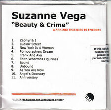 SUZANNE VEGA Beauty & Crime UK 11-trk numbered/watermarked promo test CD sealed