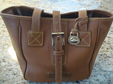 Vintage Dooney & Bourke Brown Leather Shoulder Bag Purse Tote Shopper
