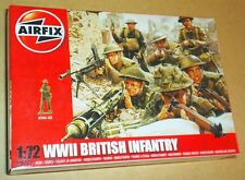 AIRFIX WW2 BRITISH INFANTRY 1:72 SCALE (25mm) MODEL SOLDIERS UNPAINTED PLASTIC