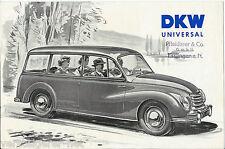 DKW 3=6 UNIVERSAL Stadtlieferwagen, Autohaus Pfleiderer & Co. GmbH Esslingen