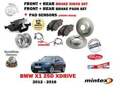 FO BMW X1 25D xDRIVE 2012- NEW FRONT & REAR BRAKE DISCS SET + PADS KIT + SENSORS