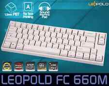 Leopold FC660M Mechanical Keyboard Cherry MX Red PBT White English