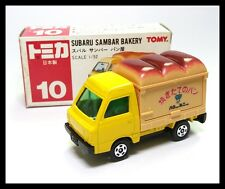 TOMICA #10 SUBARU SAMBER BAKERY 1/52 TOMY MADE IN JAPAN TOY CAR