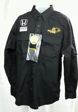 Pit Crew RACING SHIRT Long Sleeve Button Fr Mens L Honda Panther National Guard