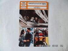 CARTE FICHE CINEMA 1994 TIMECOP LE FLIC DU TEMPS Jean Claude Van Damme Mia Sara