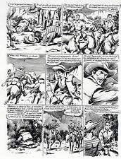 ANDRE GOSSELIN PLANCHE ORIGINALE RED CANYON ARTIMA 1956 PAGE 6 SIGNEE INITIALES
