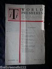 INTERNATIONAL THEATRE INSTITUTE WORLD PREMIER - NOV 1958 VOL 10 #2