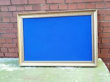 Big blue felt memo board. Shabby. Gold frame. Wedding. Photos.