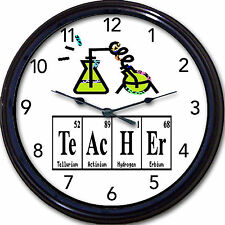Teacher Chemistry Science Wall Clock Elements Periodic Table Lab Breaking Bad