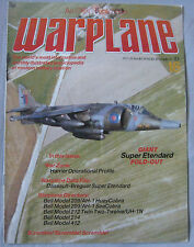 Warplane magazine Issue 16 Dassault-Breguet Super Etendard Cutaway & poster