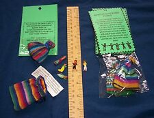 Commerce équitable worry dolls dans pochette & description stress relief guatemala Buy4 Get5!