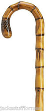 Harvy Crook Handle Genuine Chestnut Carved Root Nose Walking Stick Mens Cane