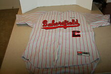 NIKE BASEBALL BAKERSFIELD JERSEY men striped team swoosh Large/44 custom cotton