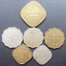 anna set. all 6 rare British India coins at very reasonable price.