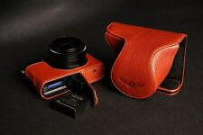 Genuine real Leather Full Camera Case bag Cover for Leica D-LUX Typ 109 Open