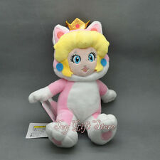 Super Mario 3D World Plush Doll Figure CAT Princess PEACH 8""