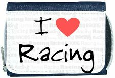 I Love Heart Racing Denim Wallet