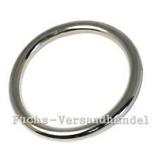 10 Stück O-Ringe 50mm EDELSTAHL Metallringe O Ringe Rundringe Stahl Ring AISI