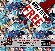 LM AMERICAN USA STICKER BOMB HYDROGRAPHIC WATER TRANSFER FILM HYDRO DIPPING DIP