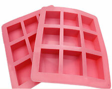 Cake Soap Mold 9-Square Bar Flexible Silicone Mould For Candy Chocolate Resin
