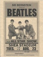 The Beatles Sid Bernstein Shea Stadium All Star Show   Concert Poster   Reprint