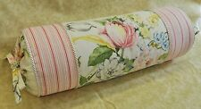 Pillow made w/ Ralph Lauren Home Lake Floral & Summer Cottage Stripe Fabric NEW