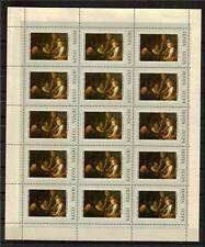 RUSSIA 1973 SC# 3976-81 OLD RUSSIAN PAINTING FULL SHEET  MNH