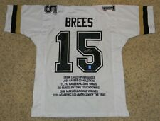 DREW BREES SIGNED AUTOGRAPHED PURDUE BOILERMAKERS #15 WHITE STAT JERSEY GTSM