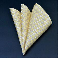 Men's Wedding Party Silk Satin Solid Floral Hanky Pocket Square Handkerchief F06