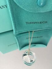 "Tiffany & Co. Rock Crystal Eternal Circle 5/8"" Necklace Elsa Perretti Authentic"