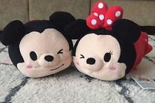 "Disney ""Tsum Tsum"" Mickey Mouse And Minnie Mouse  Plush Toys 11""  Soft Gifts"