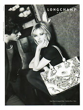 Publicité 2008 LONGCHAMP sac à main collection mode Kate Moss & Gaspard Ulliel